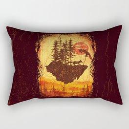 Vintage Fox Island Rectangular Pillow