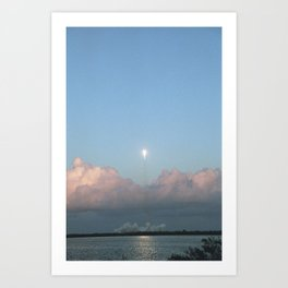 Falcon 9 in Flight Art Print