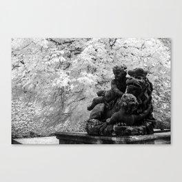 Lion in Distress Canvas Print