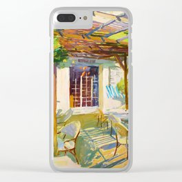 Breakfast in sunny Normandy Clear iPhone Case