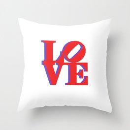 3D Love Print- Red Throw Pillow