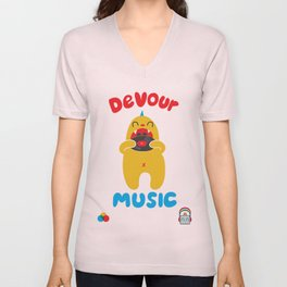 Devour Music Unisex V-Neck