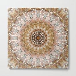 Mandala tender pink Metal Print