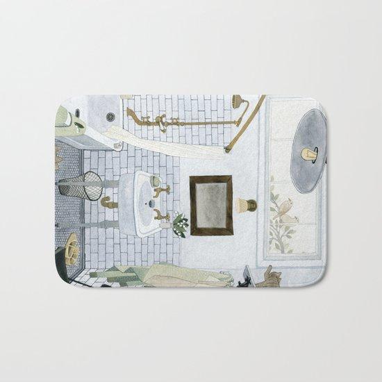 In The Bathroom Bath Mat