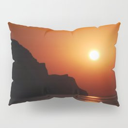 Sunset at the sea landscape Pillow Sham
