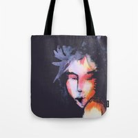 iron maiden Tote Bags featuring Maiden by SliackyJo