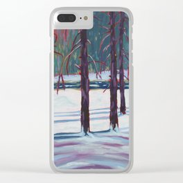 The Spruce Bog, Algonquin Park Clear iPhone Case