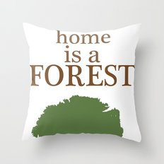 My Second Home is a Forest Throw Pillow