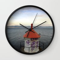 lighthouse Wall Clocks featuring lighthouse. by zenitt