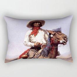 """Frederic Remington Western Art """"A Regimental Scout"""" Rectangular Pillow"""