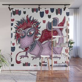 limited palette dragon Wall Mural