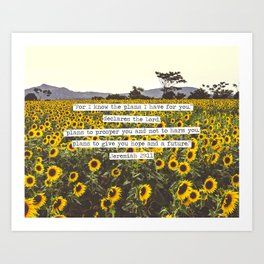 Jeremiah Sunflowers Art Print