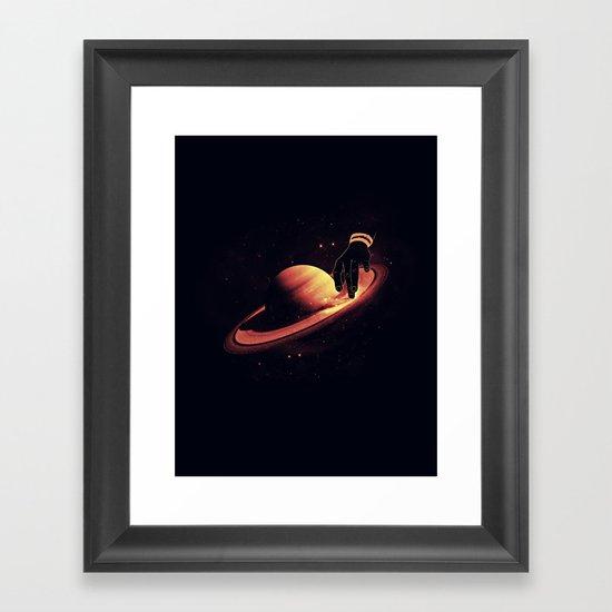Saturntable Framed Art Print