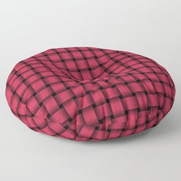 Amaranth Red Pink Weave Pattern Floor Pillow