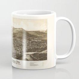 Aerial View of Brattleboro, Vermont (1886) Coffee Mug