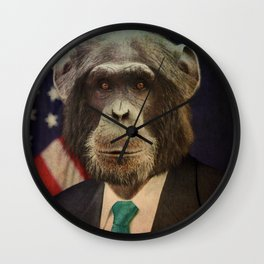Animal tee vintage graphic design Wall Clock