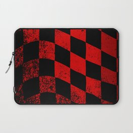 Red Dirty Chequered Flag Laptop Sleeve