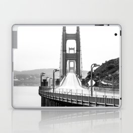 Golden Gate Bridge Black and White Laptop & iPad Skin