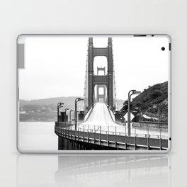 Golden Gate Bridge Black and White Laptop & iPad Skin
