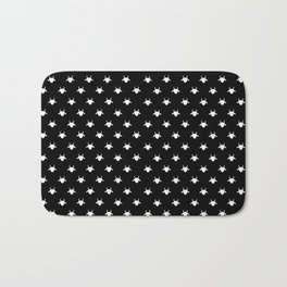 goat patterns white Bath Mat