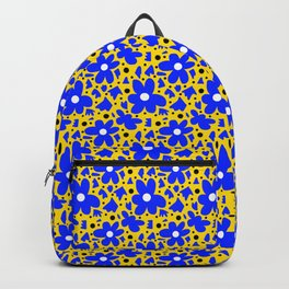 Hope in Blue and Yellow Backpack