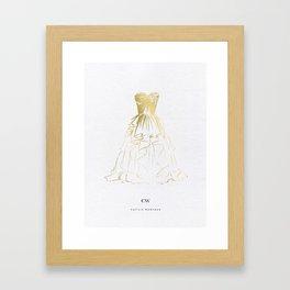 Little Gold Ball Gown Dress Framed Art Print