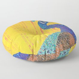 Peacock - Brave Floor Pillow