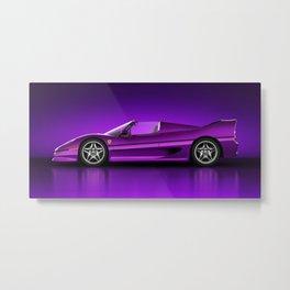 Ferrari F50 - Neon Metal Print