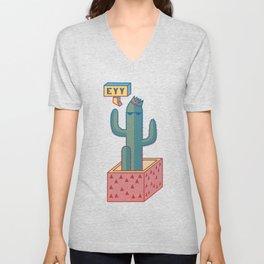 Cool Cactus Unisex V-Neck