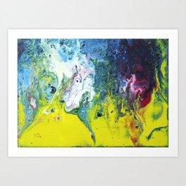 Fluid Art Painting 18 Art Print