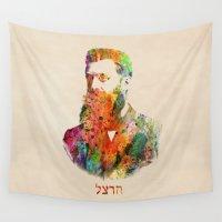 israel Wall Tapestries featuring israel by mark ashkenazi