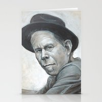 tom waits Stationery Cards featuring Tom Waits by Lars-Erik Robinson