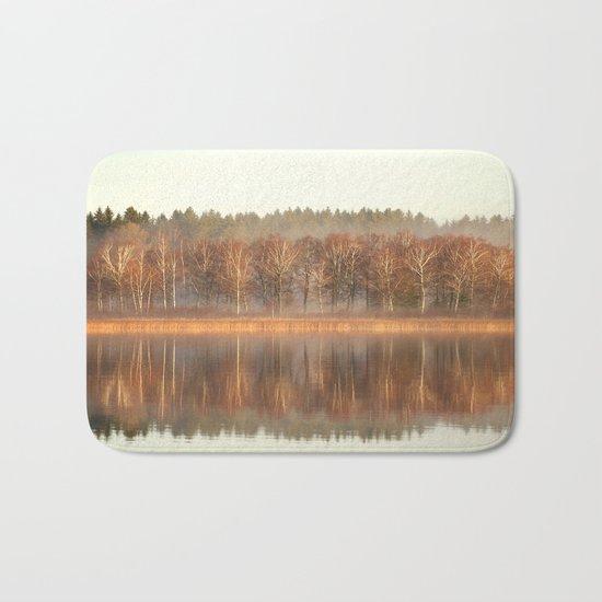 Foggy Reflection Bath Mat