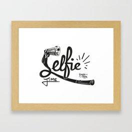 'Selfie' Time Framed Art Print