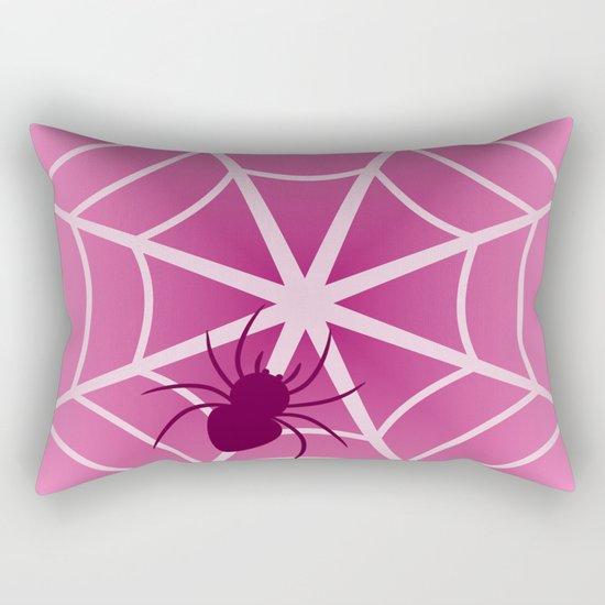 Spider web in pink Rectangular Pillow