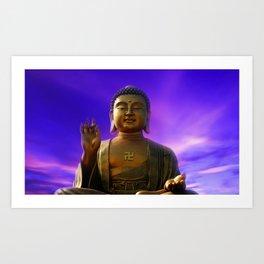 Buddha Blue Dawn Art Print