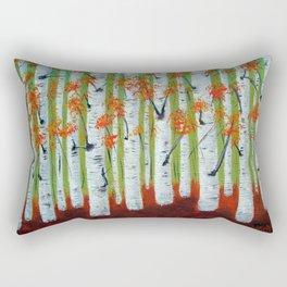 Atumn Birch trees - 5 Rectangular Pillow