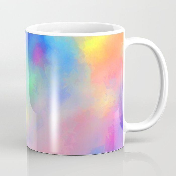 Amazing Rainbow Color Blend Abstract Coffee Mug By