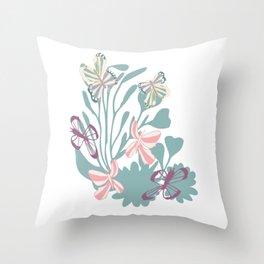 Butterfly dancing Throw Pillow