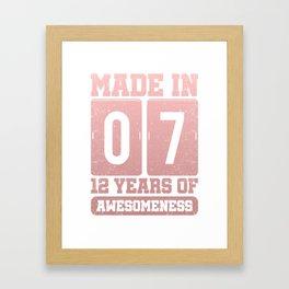12. Geburtstags Geschenk Framed Art Print