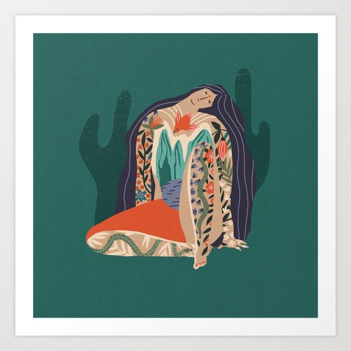 Madre Tierra Art Print