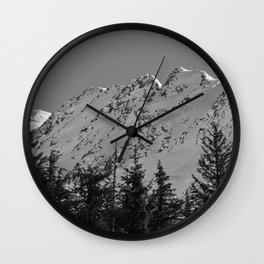 Gwin's Winter Vista - B & W Wall Clock