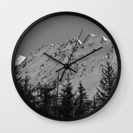 Gwin's Winter Vista - B & W Wall Clock
