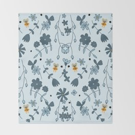 Bumbling and Busy Throw Blanket