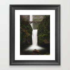 Lower Multnomah Falls Framed Art Print