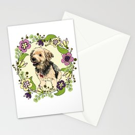 Puppy Wreath Stationery Cards