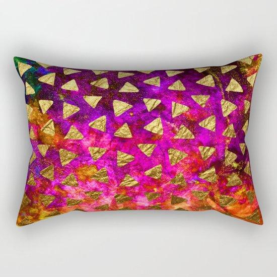 Triangles golden foil Rectangular Pillow