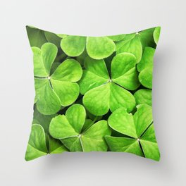 st. patrick day clover background Throw Pillow