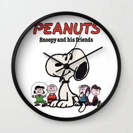 snoopy and friend Wall Clock