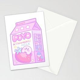Kawaii Kirby Strawberry Milk  Stationery Cards